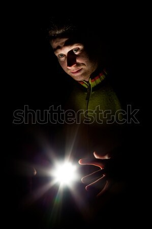 Portrait of a man on a black background Stock photo © All32