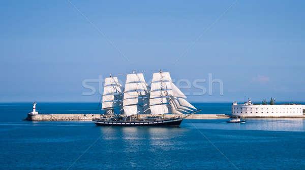 Voilier homme sport océan bleu navire Photo stock © All32