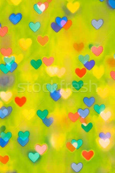 Multi-colored hearts Stock photo © All32