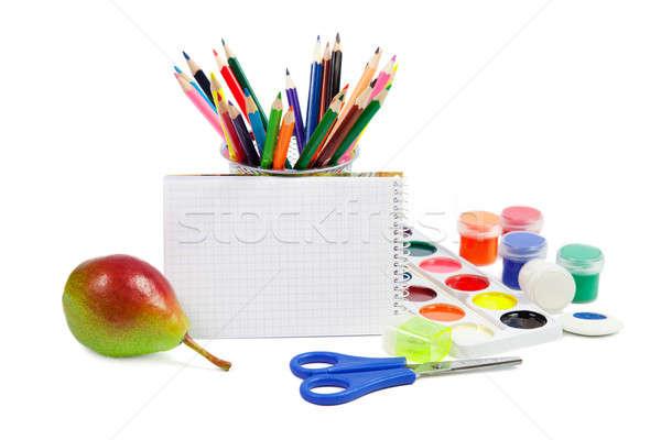 école isolé blanche bureau livre Photo stock © All32