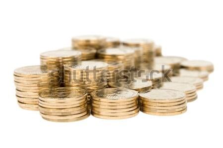 Moedas isolado branco negócio fundo padrão Foto stock © All32