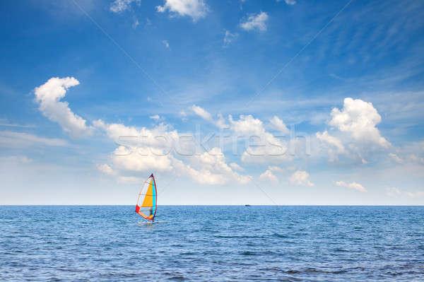 Zee blauwe hemel wolken strand hemel oceaan Stockfoto © All32