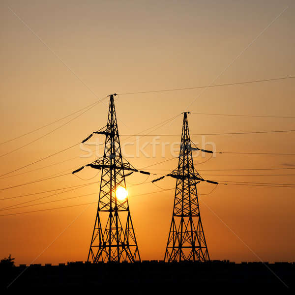Power transmission towers Stock photo © All32