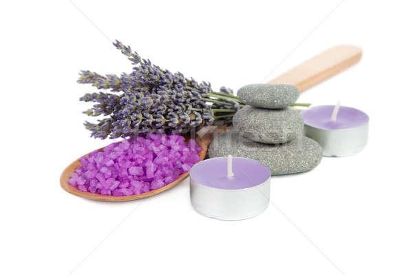 Spa lavendel steen therapie Stockfoto © All32