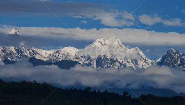 Montagnes tibet up nuages sport lumière Photo stock © All32