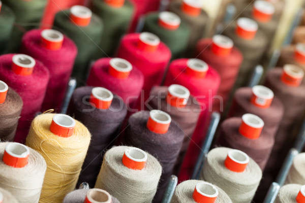 Stock photo: The reels with colorful threads