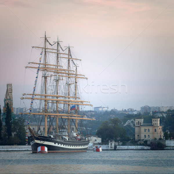 Large sailing ship in the bay  Stock photo © All32