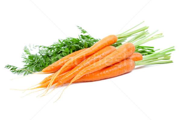 Wortelen geïsoleerd witte zomer oranje markt Stockfoto © All32