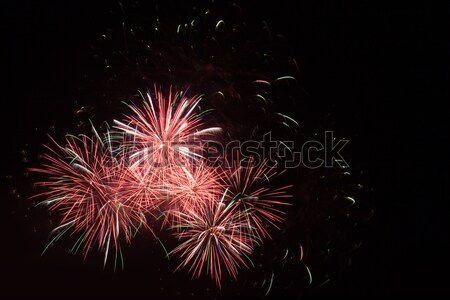Colorido vermelho fogos de artifício céu noturno festa fumar Foto stock © All32