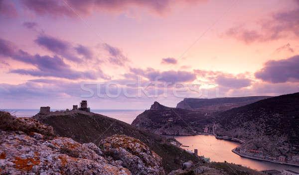 Top мнение старые форт пейзаж облака Сток-фото © All32