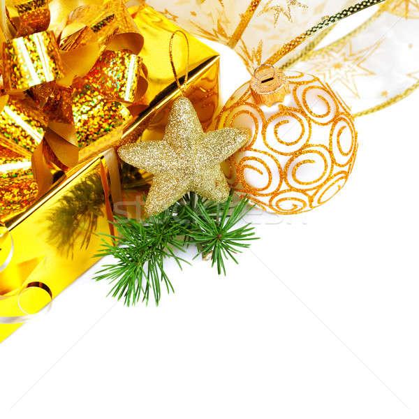 Noel hediyeler yalıtılmış beyaz doğum günü arka plan Stok fotoğraf © All32