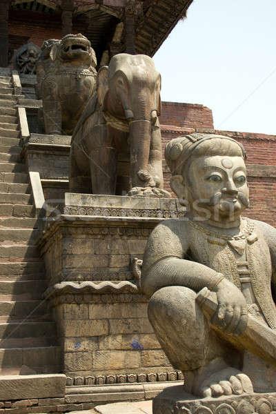 Oude stad Nepal hond kunst benen Stockfoto © All32