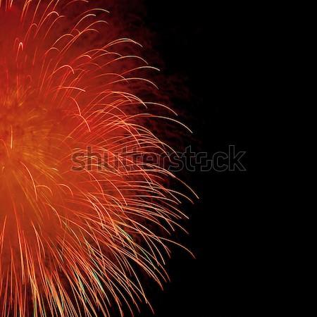 Bella fuochi d'artificio cielo notturno cielo party luce Foto d'archivio © All32