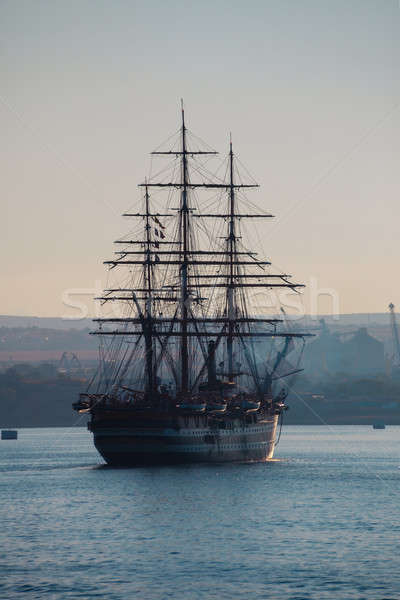 Sailing ship in the bay  Stock photo © All32