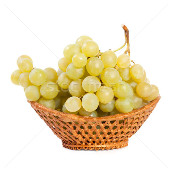 Bunch of grapes in a basket Stock photo © All32