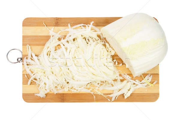 Beijing cabbage sliced on the board Stock photo © All32