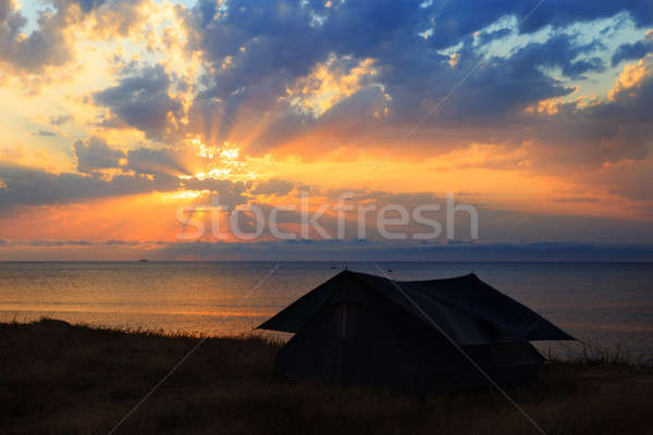 Tent on the seashore Stock photo © All32