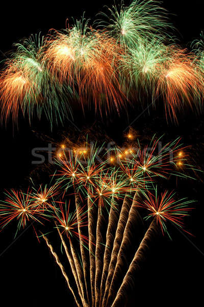 Belo fogos de artifício céu noturno céu arte Foto stock © All32