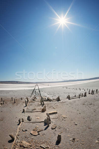 Dry lake under a blue sky Stock photo © All32
