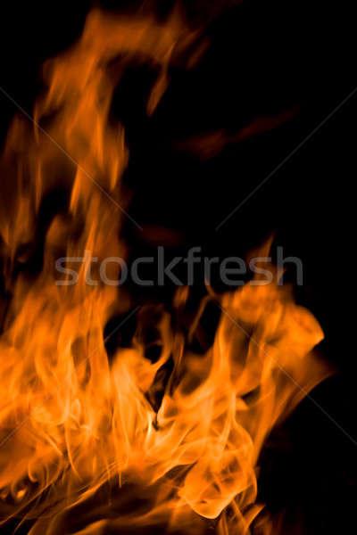 Flăcări putea folosit incendiu portocaliu semna Imagine de stoc © All32