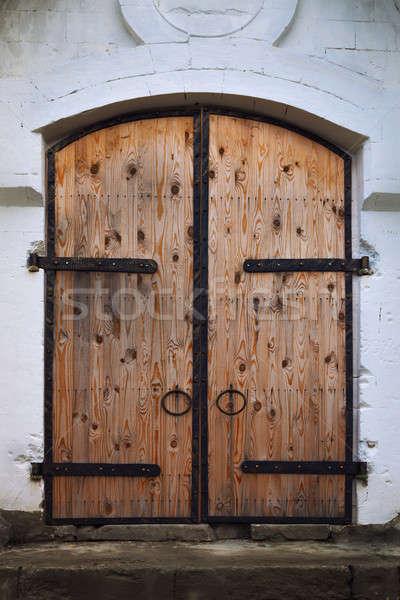 古い ゲート 金属 木材 壁 デザイン ストックフォト © All32