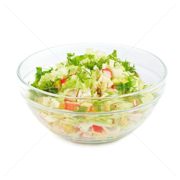 Plaat salade geïsoleerd witte voedsel gezondheid Stockfoto © All32