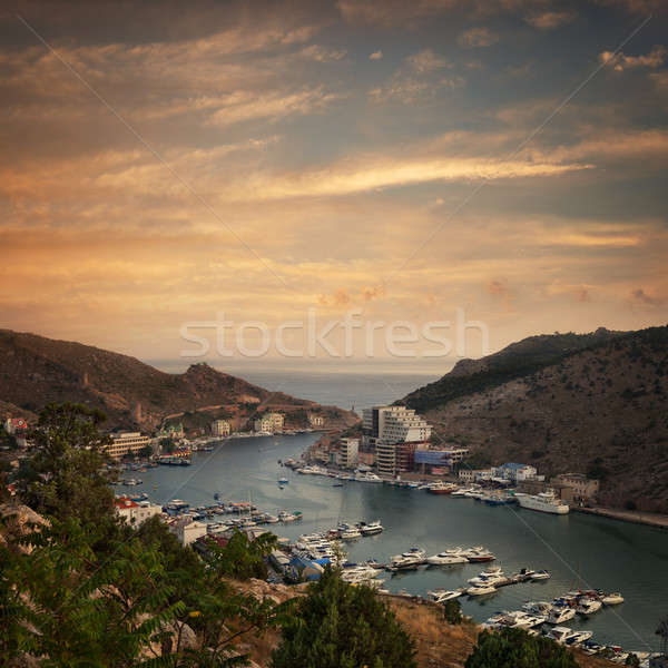 The view of the sea bay with ships Stock photo © All32