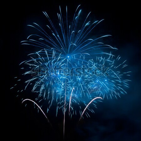 A beautiful blue fireworks Stock photo © All32
