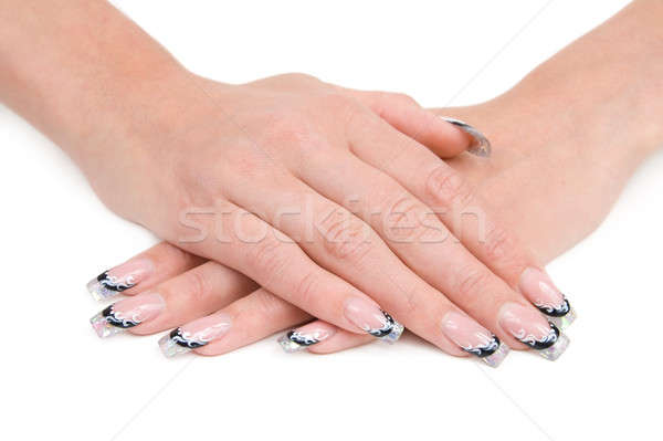 Women's hands with a nice manicure. Stock photo © All32