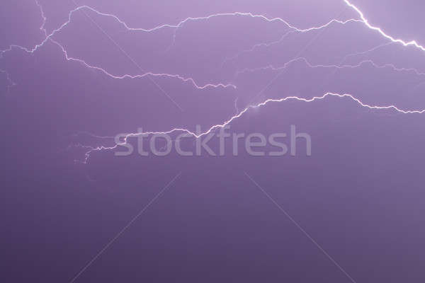 雷 夜空 雲 建物 背景 ストックフォト © All32
