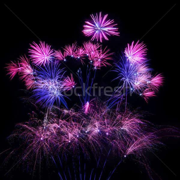 красочный фейерверк ночное небо небе вечеринка свет Сток-фото © All32