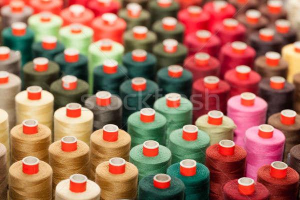 Colorido industria fábrica rosa coser algodón Foto stock © All32