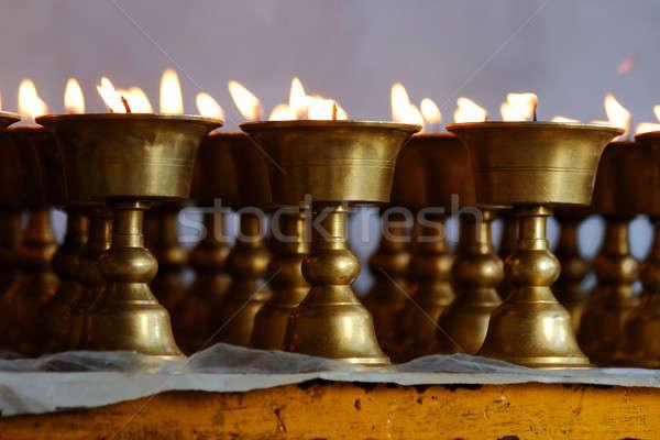 Ardente velas indiano templo fogo luz Foto stock © All32