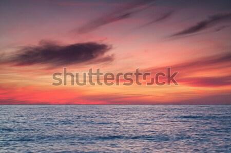 Zeegezicht zonsondergang zee hemel landschap achtergrond Stockfoto © All32
