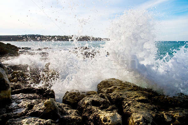 Wave shattered on the rocks Stock photo © All32