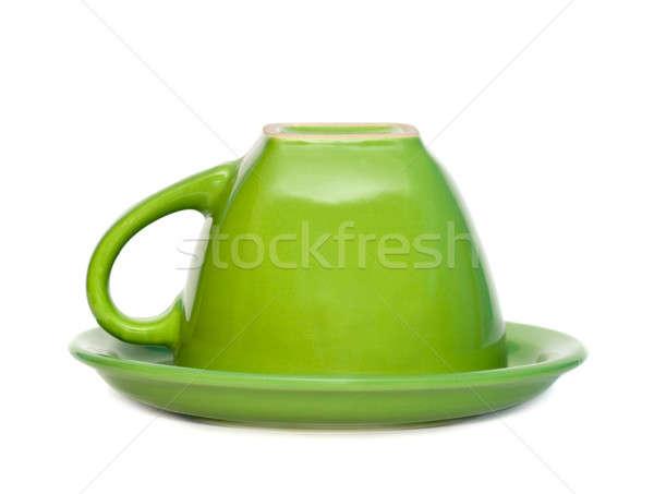 зеленый Кубок блюдце изолированный белый природы Сток-фото © All32