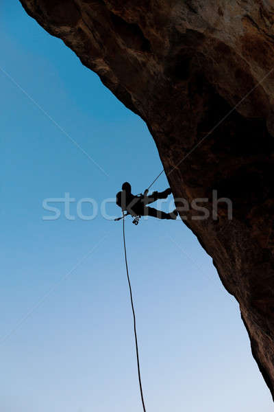 Climber on the rock Stock photo © All32