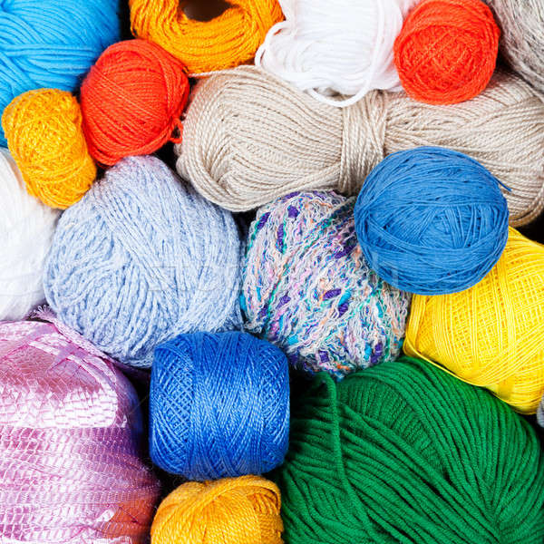 Colorful balls of yarn for knitting  Stock photo © All32