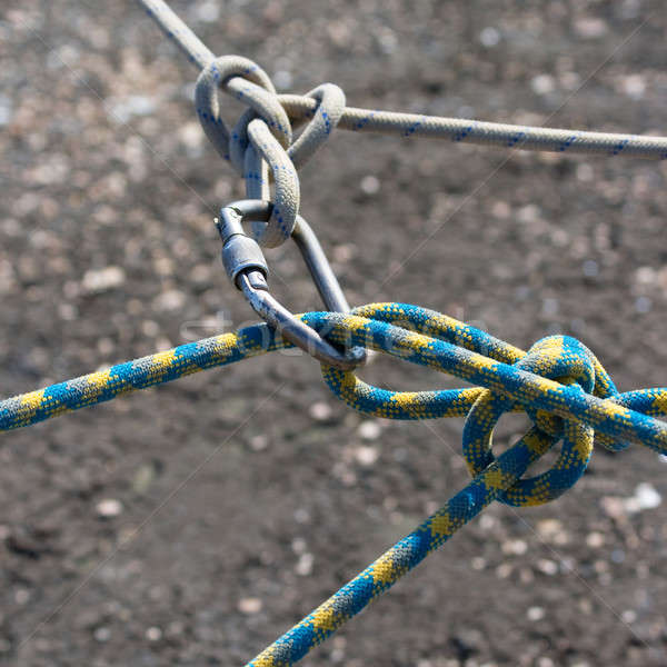 Joining somewhat ropes carabine. Stock photo © All32