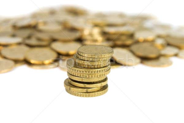 Munten geïsoleerd witte achtergrond financieren bank Stockfoto © All32