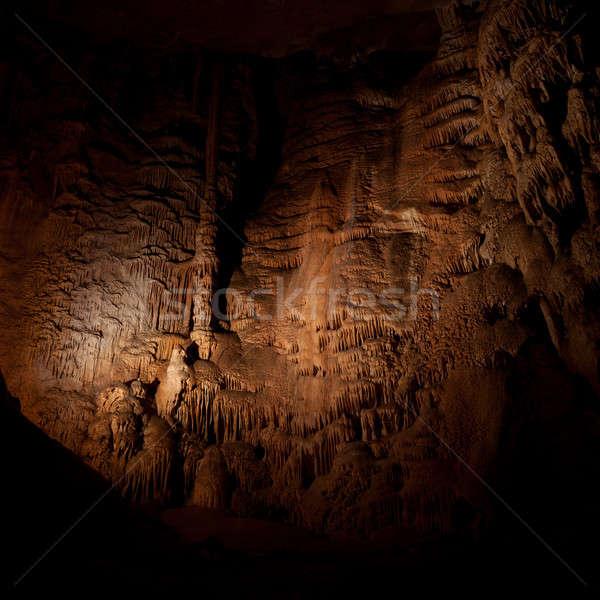 Barlang kő oszlopok fal természet gyönyörű Stock fotó © All32