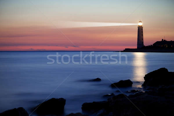Lighthouse on the coast Stock photo © All32
