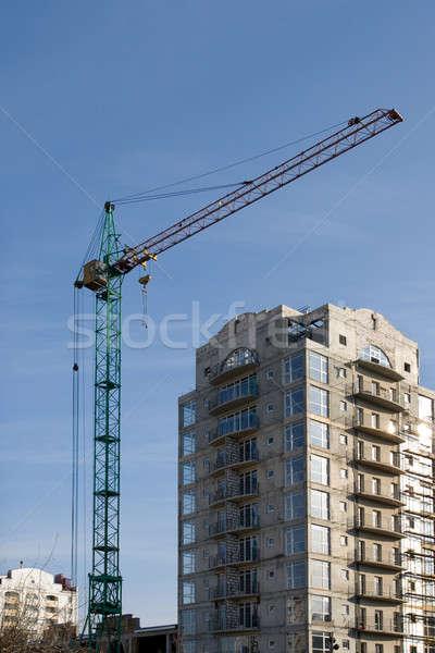 Bina vinç beton yapı iş gökyüzü Stok fotoğraf © All32