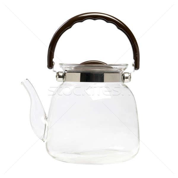 Cam demlik su yalıtılmış beyaz sanat Stok fotoğraf © All32