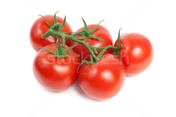 Frescos rojo maduro tomates vid aislado Foto stock © All32