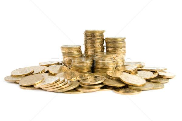 монетами изолированный белый бизнеса фон шаблон Сток-фото © All32