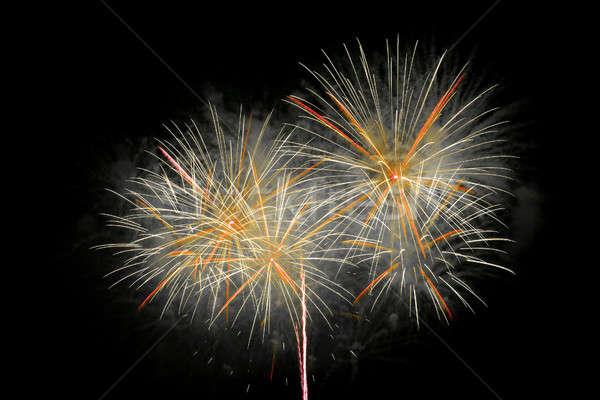 Vuurwerk nachtelijke hemel hemel partij kunst nacht Stockfoto © All32