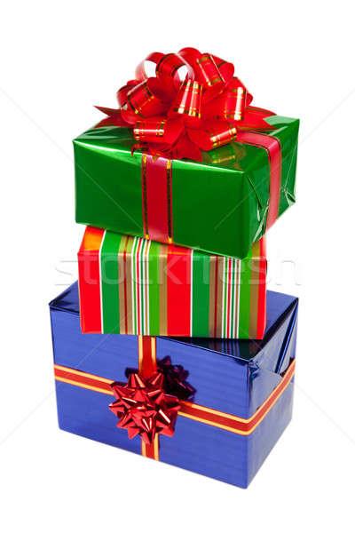 Mooie geschenken geïsoleerd witte verjaardag geschenk Stockfoto © All32