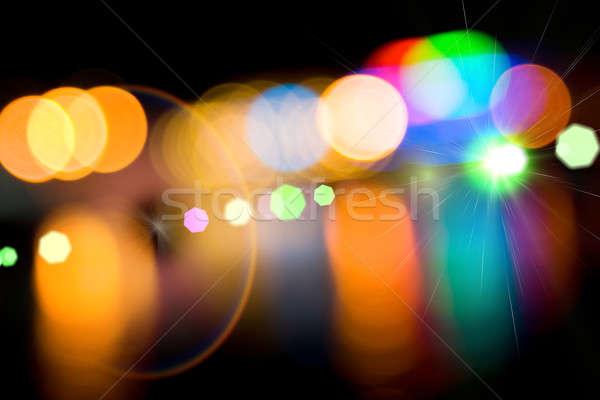 Defocused lights of the city.  Stock photo © All32
