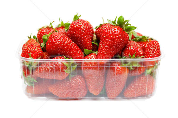 Strawberries in plastic packaging Stock photo © All32